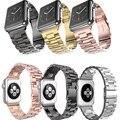 2016 deluxe para apple watch banda de acero inoxidable de alta calidad 38/42mm