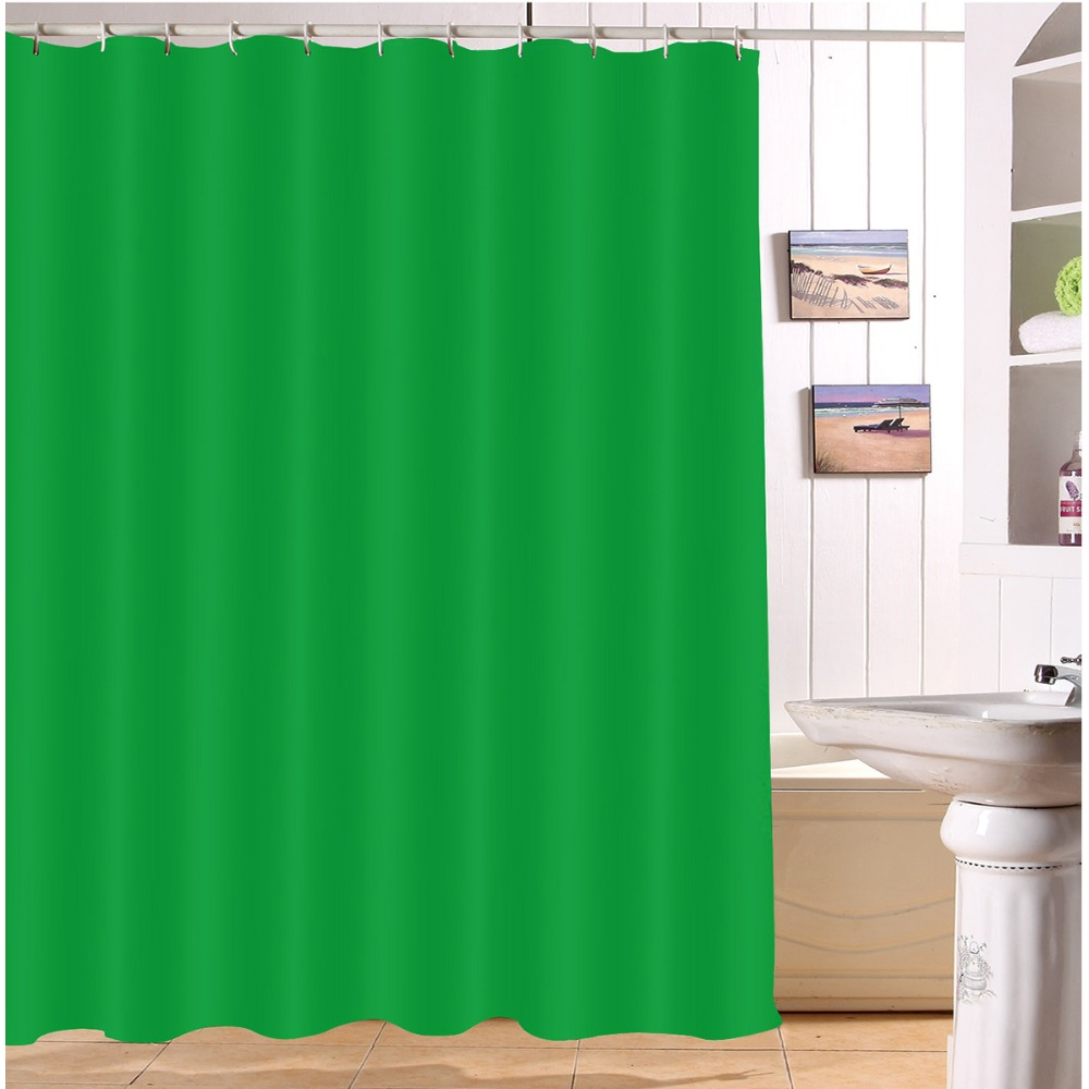 Lb 72 Green Shower Curtains Waterproof Polyester Style Bathroom