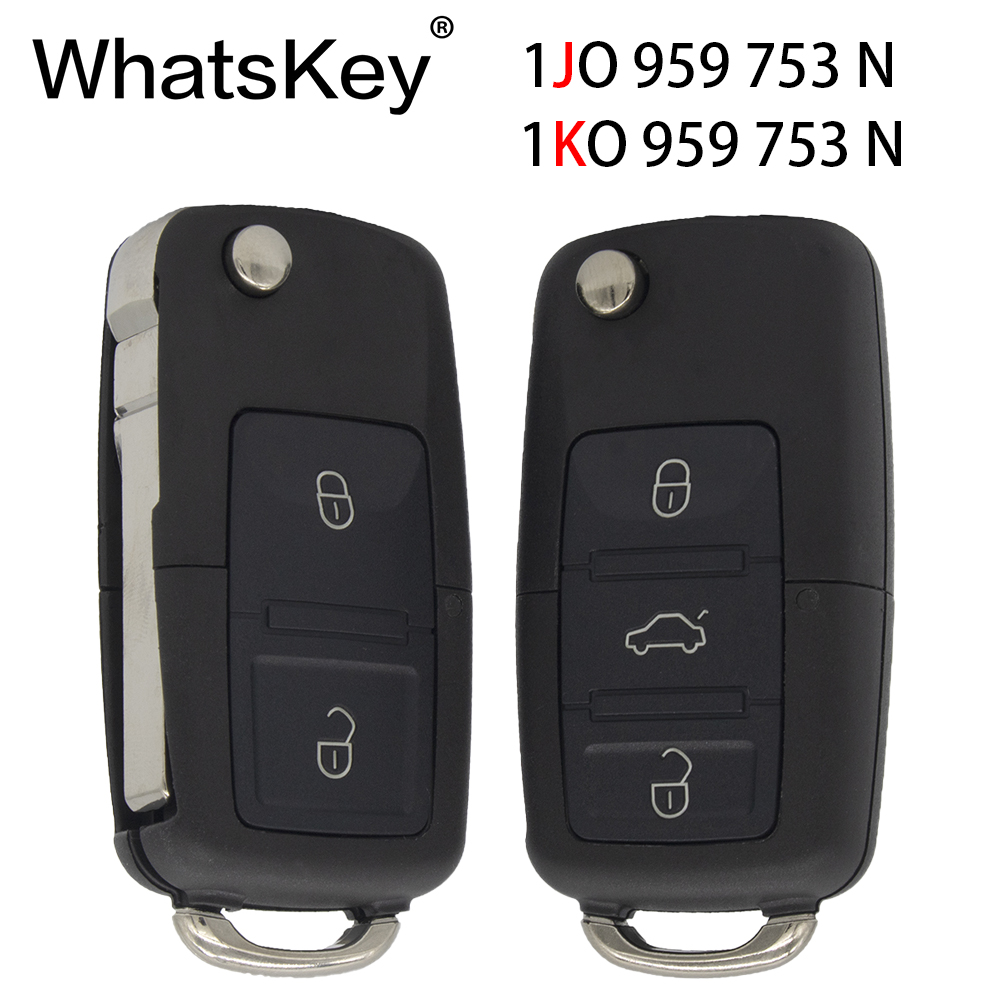 WhatsKey Remote Car Key 433Mhz ID48 Chip For Volkswagen Beetle Bora Passat B5 Golf Polo 1JO959753N 1KO959753N in Car Key from Automobiles Motorcycles