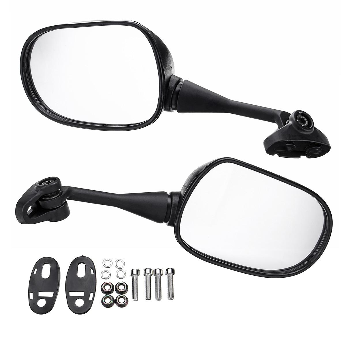2 pçs 18mm espelho retrovisor da motocicleta espelhos retrovisores de vidro volta lateral direita esquerda para honda cbr600 cbr600rr cbr1000 cbr1000rr