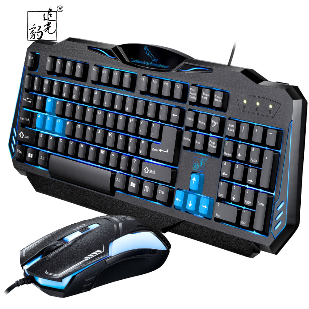 ZGB G16 Blue Switch Mechanical Keyboard And USB Wired 3D Mouse Game Keyboard Mouse Combo ...
