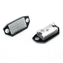цена на 2Pcs Car License Plate Light Led Light Bulb For Ford Mondeo MKIII44/5D 2000-2007 12V 24SMD LED Number License Plate Lights Lamp