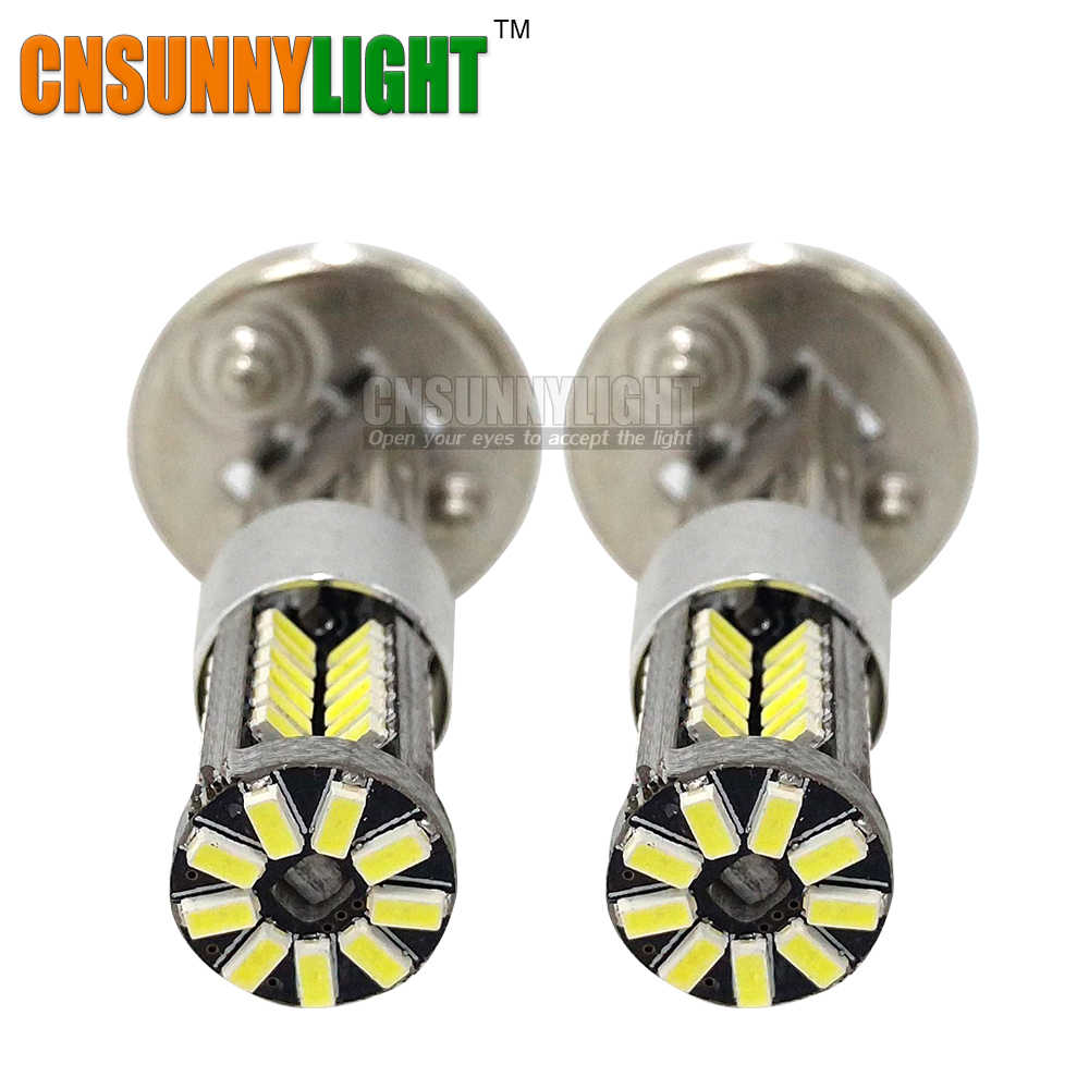 CNSUNNYLIGHT H1 High Power LED Head Front Fog Lights Bulb Lamp Auto Car 12V Super White 6000K Car Styling Replacement Bulbs
