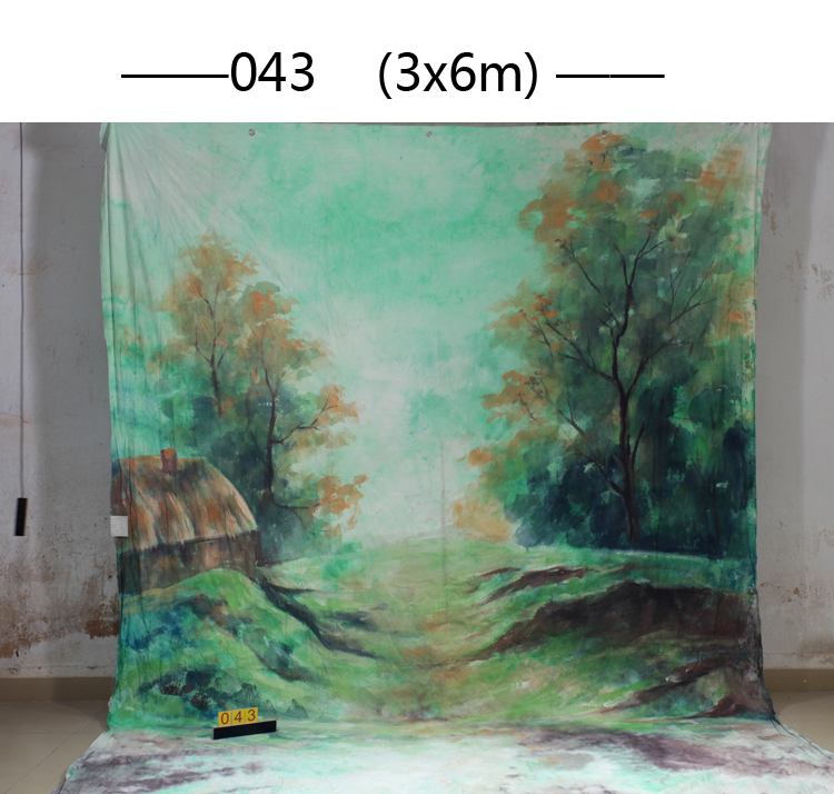 10x20ft Hand painted Studio Shooting Muslin Photography Background 043,Fantasy tree Fabric  backdrops,camera wedding photography