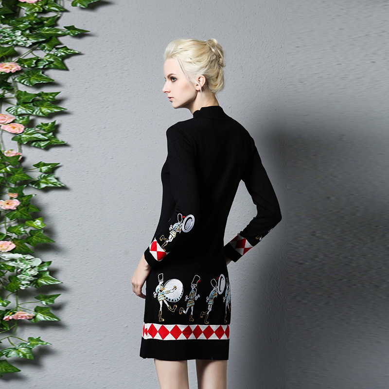 Lange zwarte strakke jurk