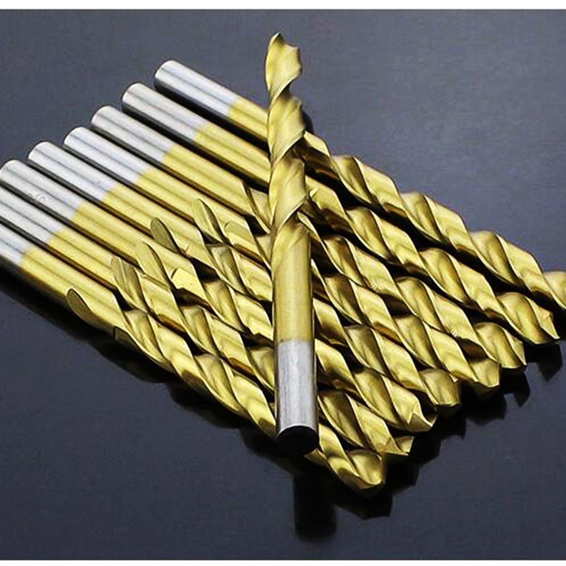 цена на Hot 50Pcs/Set Titanium Coated Twist Drill Bit Set 1/1.5/2/2.5/3mm High Speed Steel Wood Drilling Metalworking Power Tool