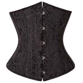 X 28 Steel Boned Waist Cincher Corsets and Bustiers Corset Underbust Gothic Corselet Sexy Body Shaper Black White espartilho - DISCOUNT ITEM  5% OFF All Category