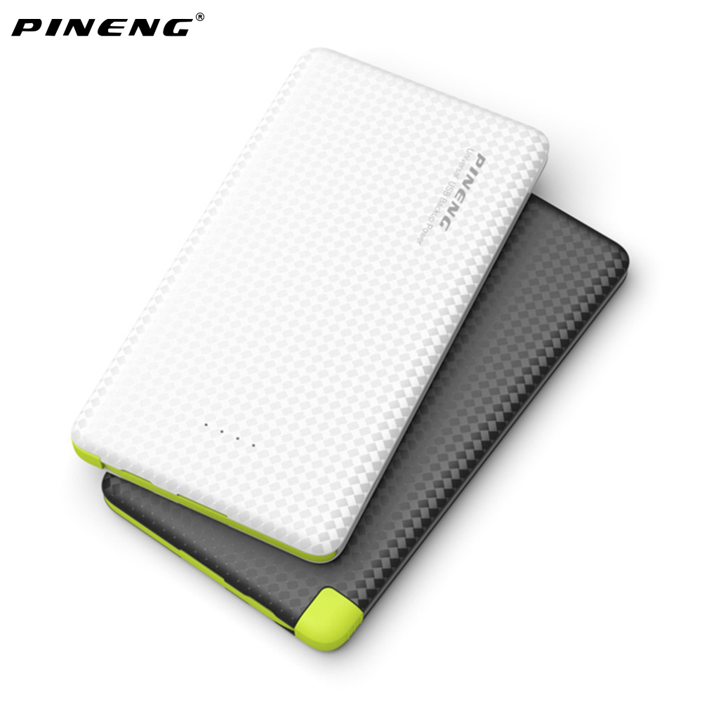 Original PINENG 5000mAh Mobile Power Bank Fast Charging External Battery Portable Charger Li polymer Battery for