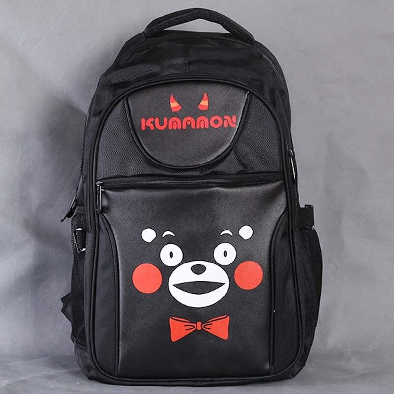 Jepang Maskot Kumamon Laptop Hitam Ransel Double-bahu Sekolah Travel Tas  untuk 79e3a834ae