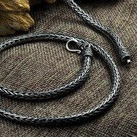 S925 серебро ручной безопасный узор Киль ожерелье пеньковая веревка длинный отрезок тайский серебряный Ретро Мужская 5 мм Ожерелье