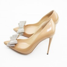 купить Fashion Ladies Office Work High Heels Sexy Women Pointed Toe Pumps Shoes Nightclub Women Shoes With Bow Plus Size C025A по цене 3205.11 рублей