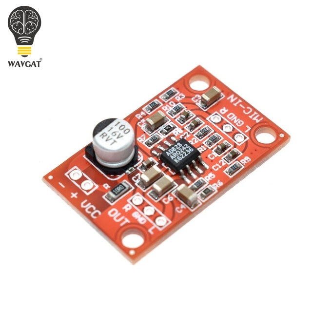 wavgat dc 3 8v 15v ad828 stereo dynamic microphone preamplifier board mic preamp module. Black Bedroom Furniture Sets. Home Design Ideas