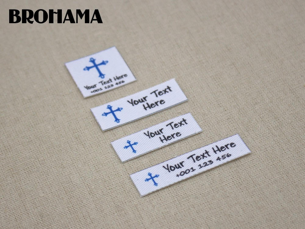 Custom name label, childrens clothing label, ironing label, boy and girl tag, Customize color, Boy footprints (L25)
