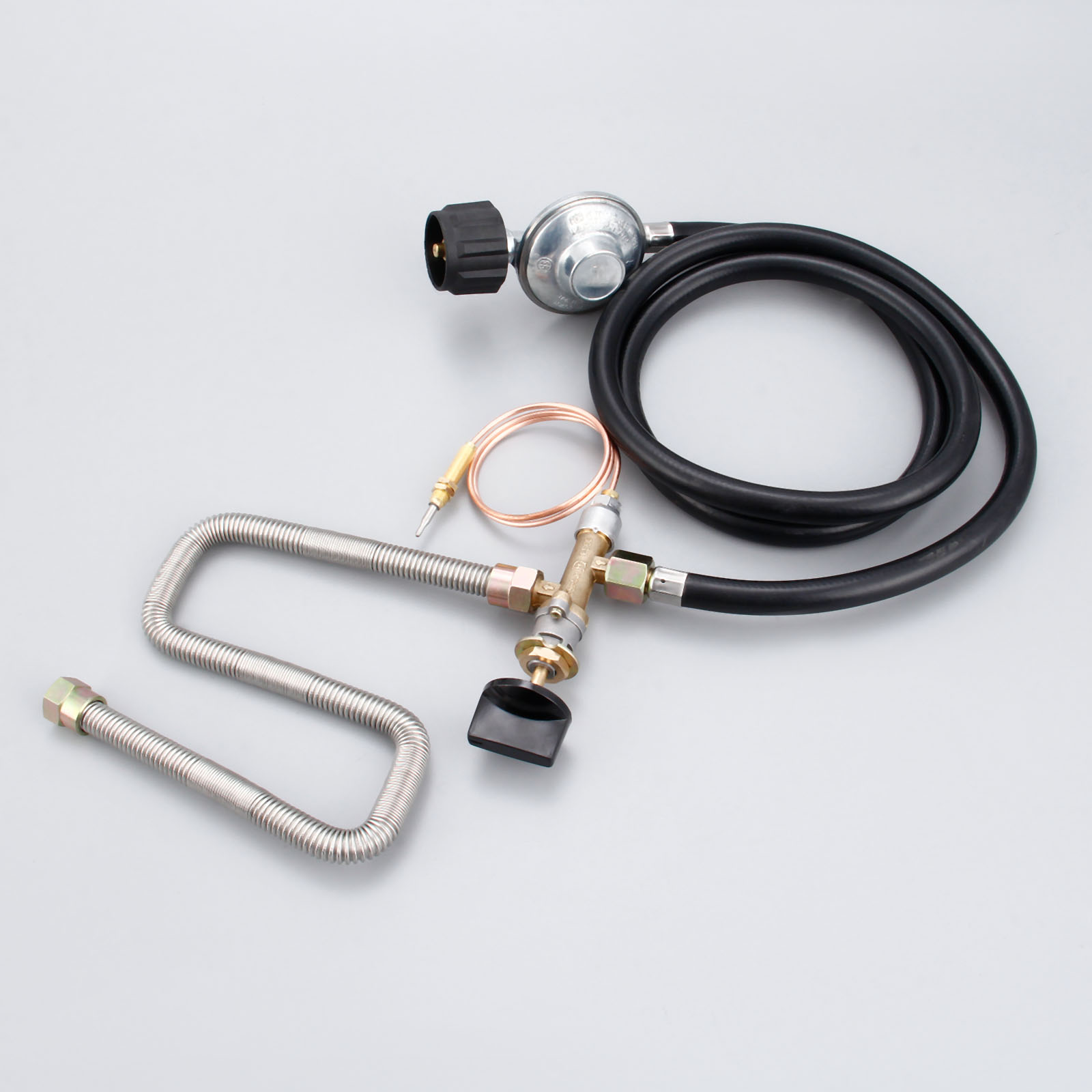 Propane Fire Pit Fireplace Parts Gas Control Valve System Regulator Valve With Hose 600mm Universal M8 Thermocouple