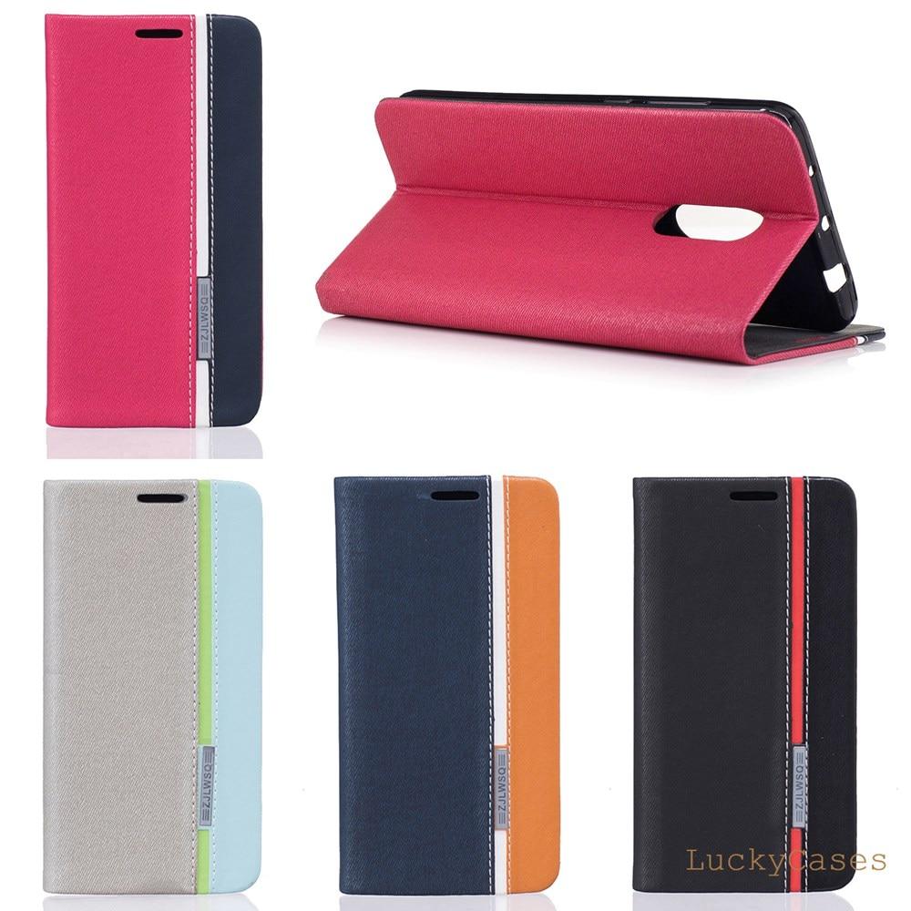 babbd18df0c Para Samsung Galaxy A7 2018 Flip Cover magnético caso de la cartera de cuero  teléfono bolsa