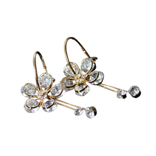 Circle Flower Earrings With Cz Jewelry For Women Vintage Bride Earrings