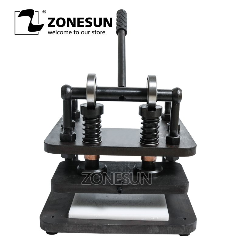 все цены на ZONESUN 2819cm Hand leather cutting machine DIY wallet bag photo paper PVC/EVA sheet mold cutter leather Die cutting tool