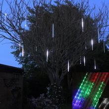 50 cm lluvia de Meteoros Lluvia Tubos Luces de Navidad Led de La Lámpara 100-240 V Luz del Año Nuevo Decoración de Vacaciones Al Aire Libre ENVÍO GRATIS