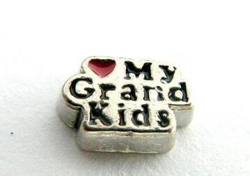 (20, 50) шт/партия любовь Мои внуки DIY сплав плавающий медальон Подвески подходят для магнитный кулон ювелирных изделий