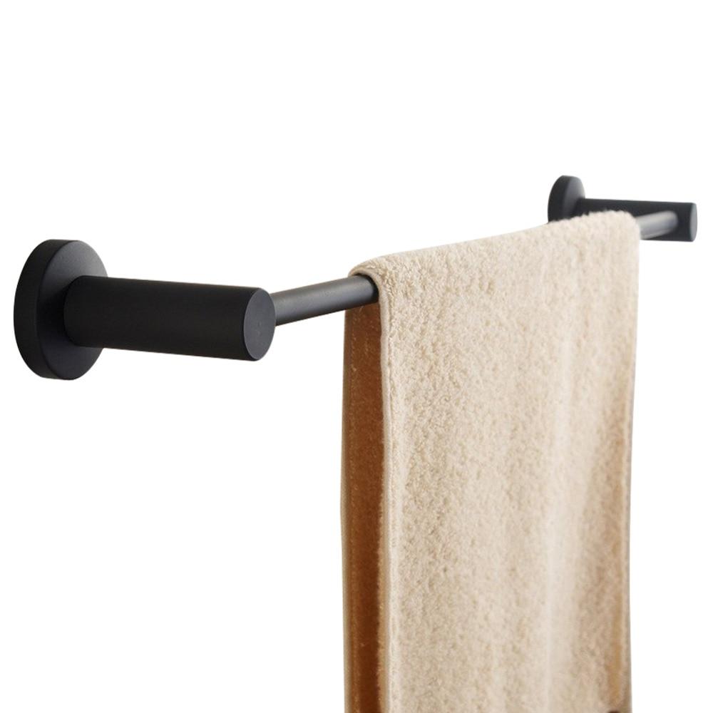 Leyden SUS 304 Stainless Steel Single Towel Bar Black Towel Rack Holder Black Matte Wall Mounted For Bathroom Accessories leyden premium sus 304 stainless steel brushed nickel towel ring towel hanger wall mounted square style bathroom accessories