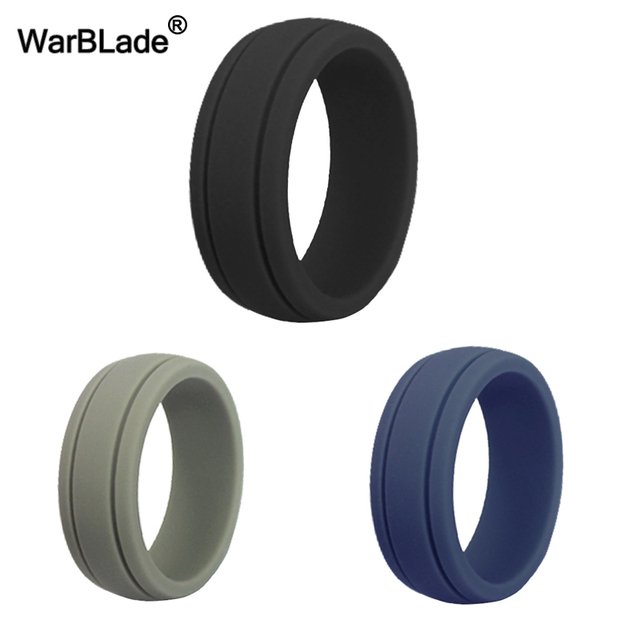 New Food Grade FDA Silicone Ring Hypoallergenic Crossfit Flexible Rubber Finger Rings Bands For Women Men Party Wedding Rings