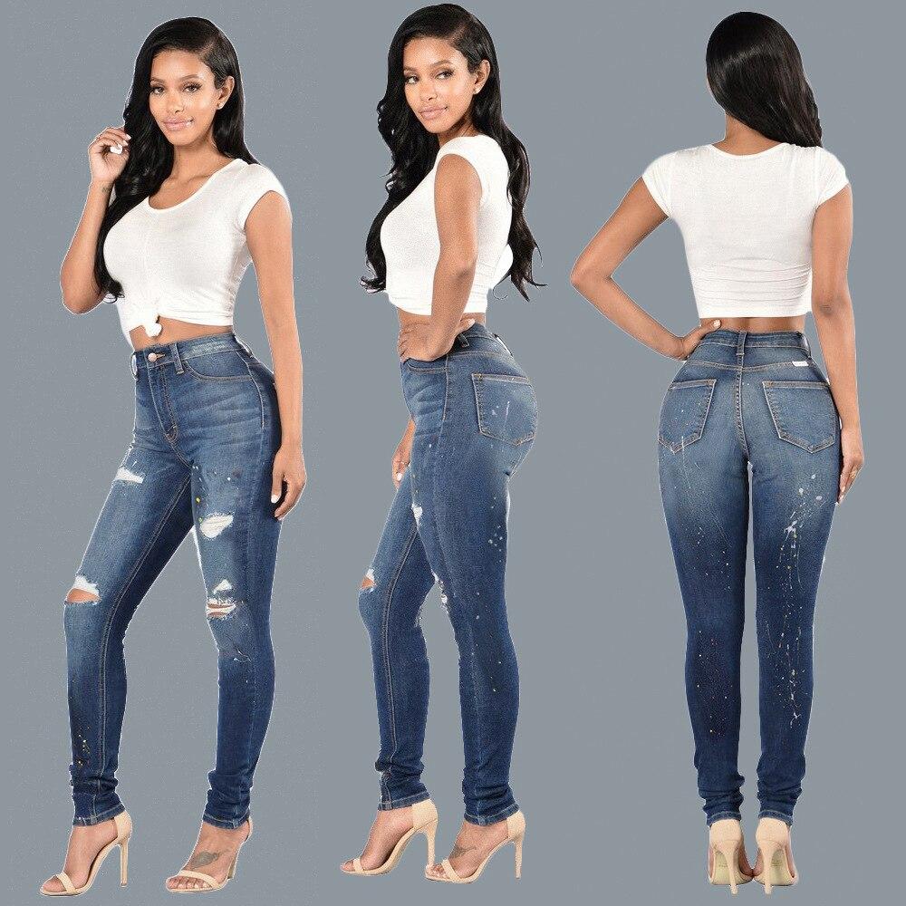 Super elastic jeans trousers 2