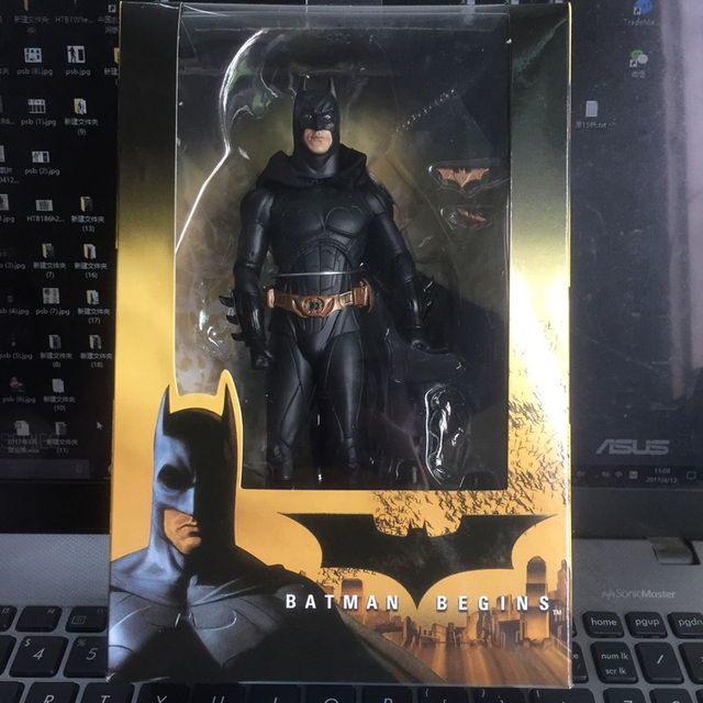 "7 ""neca Bruce Wayne Batman Begins filme TV marca superhero PVC action Figure Toy model Collection"