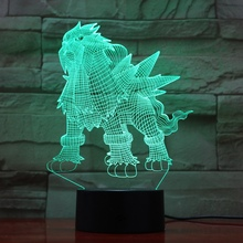 Pokemon Go Entei Figure Kids Nightlight LED Bedside Atmosphere Colorful Night Light Childrens Holiday Gift 3D Lamp RGB