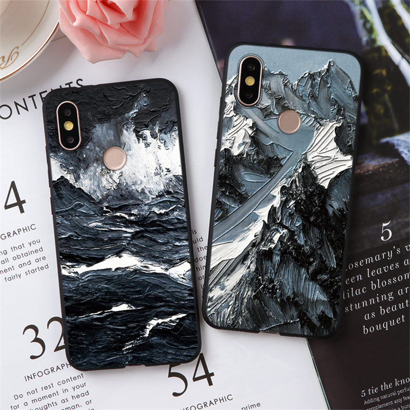 TPU 3D Emboss Coque For Xiaomi Redmi Note 7 6 5 8 9 Pro 8T 4X Plus 7A 8A Mi 8 9 Lite A3 A1 A2 F1 CC9 CC9E For Redmi Note 7 Case(China)