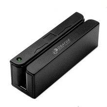 ITOSAYDE MSR90D USB Магнитный 3 трек Pos Magstripe кардридер Mini Swiper работает с Wins и Mac, Plug and Play, черный
