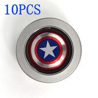Fidget Spinner Metal Finger Spinner Captain America Shield 10pcs Marvel Toy Tri Hand Spinners Top Beyblade