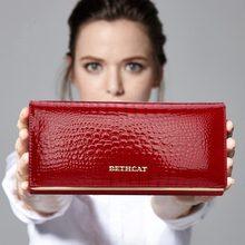 Долларовых цен засов аллигатор бренда долго бумажник кошельки кошелек женский дизайн