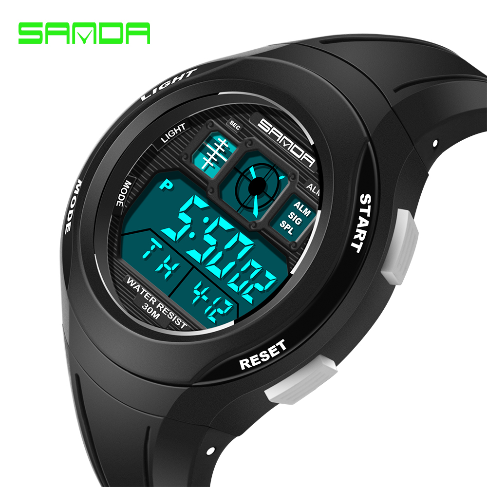 SANDA Fashion Children Watches Kids Sports LED Digital Watch for Girls Boys Rubber Waterproof Children's Clock Relogio #331