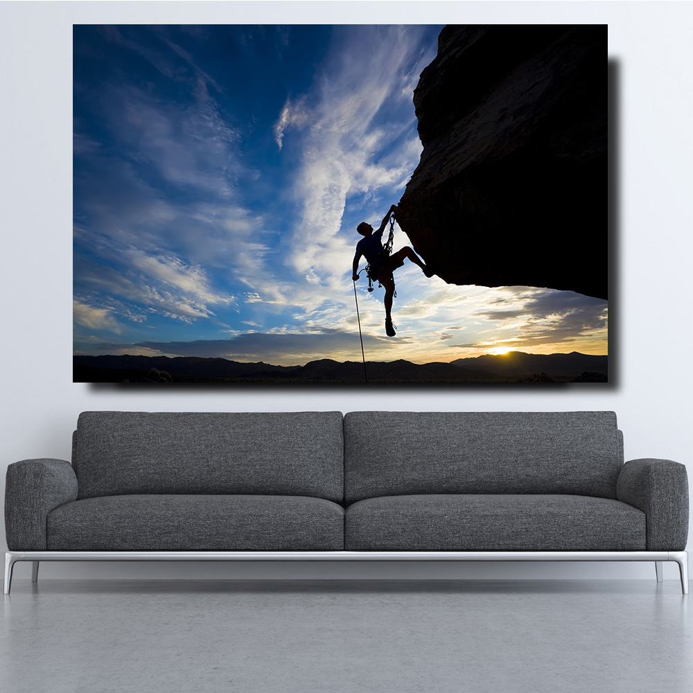 Embelish HD Print On Canvas Paintings For Living Room Climb Sports Posters For Living Room Modern Home Decor HD Canvas Paintings