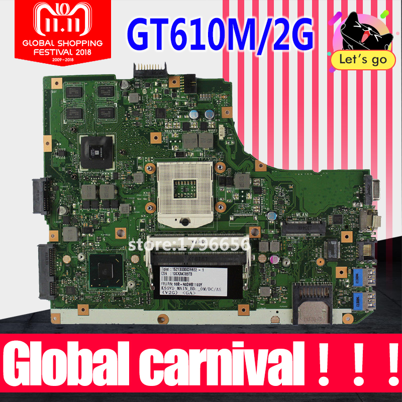 K55VD Motherboard REV:3.1 GT610M/2GB RAM For ASUS K55V A55V R500V laptop Motherboard K55VD Mainboard K55VD Motherboard test 100% k55a motherboard rev 3 0 3 1 hm76 for asus a55v k55v k55vd laptop motherboard k55a mainboard k55a motherboard test 100% ok