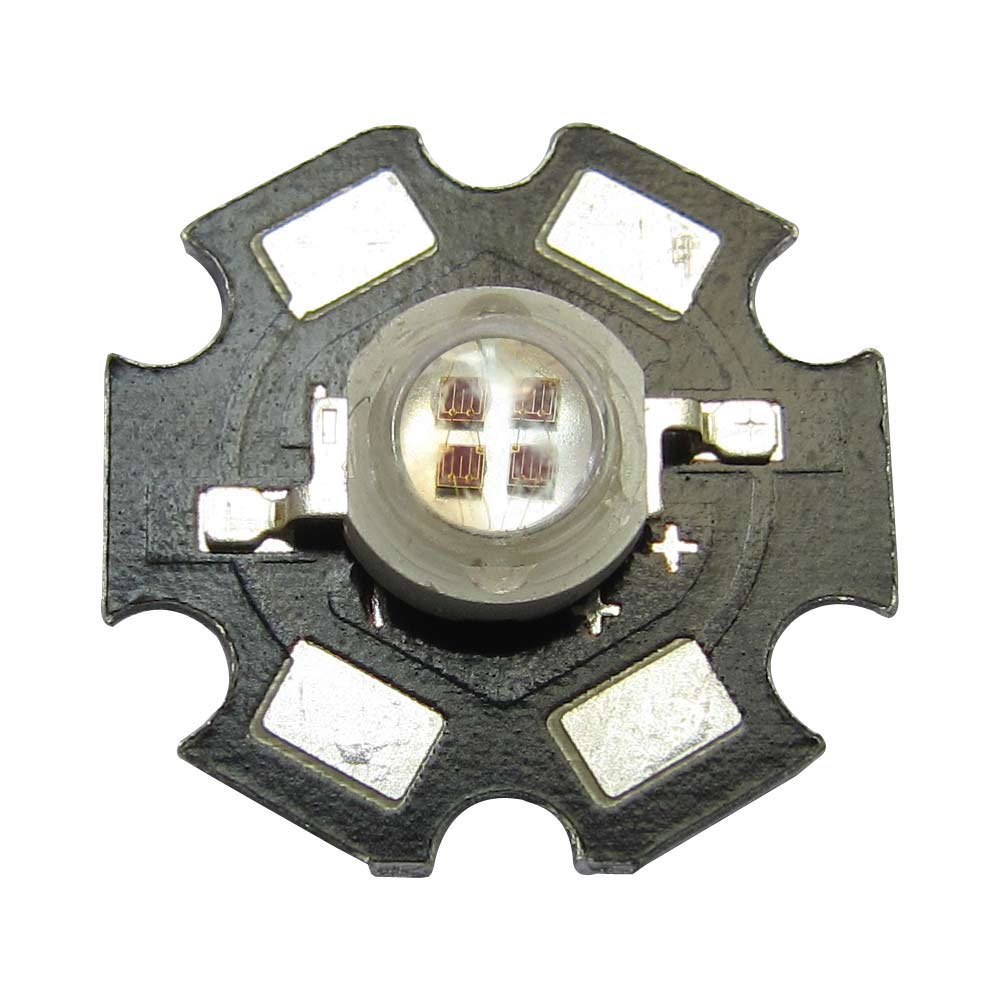 High Power 1 2 5 10pcs 5W Fourfold Chip Red 660nm LED Light Emitting Blub Parts Plant Grow Lamp + 20mm Star Base