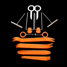 Conjunto de herramientas de desmontaje para Skoda octavia A2, A5, A7, Fabia Rapid Yeti, Superb, para Seat Altea, Cordoba, Exeo, Lbiza, Leon, Nuevo, 12 unidades