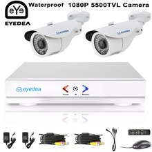 Eyedea 4CH 1080N HDMI DVR 5500TVL 1080P HD Outdoor waterproof CCTV Security Camera System 4 Channel Video Surveillance AHD Kit