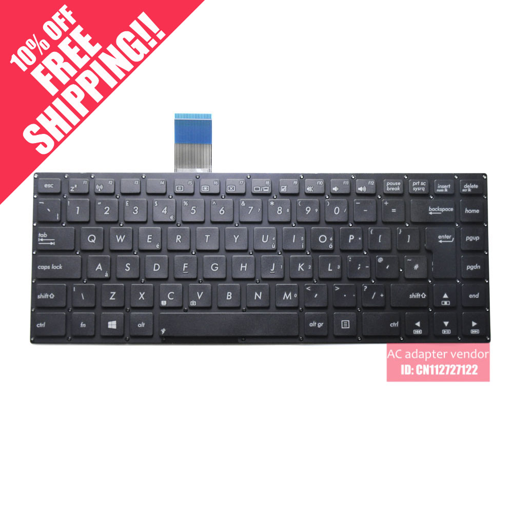 New Replacement FOR <font><b>Asus</b></font> FOR <font><b>Asus</b></font> K46 K46CA K46CB <font><b>K46CM</b></font> S46C UK edition laptop <font><b>keyboard</b></font> image