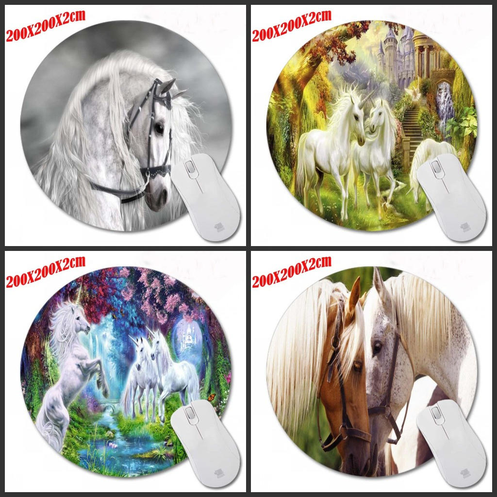 Mairuige Animal Horse Round 200 * 200 * 2mm Mouse Pad Computer Mousepad PC Laptop Comfor ...