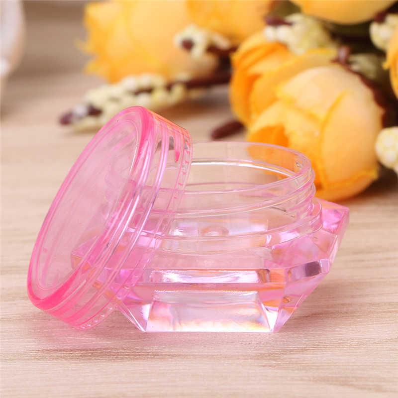 2019 Baru Plastik Kosong Botol Pot untuk Kuku Seni Glitter Make Up Kosmetik Botol Perjalanan 2G