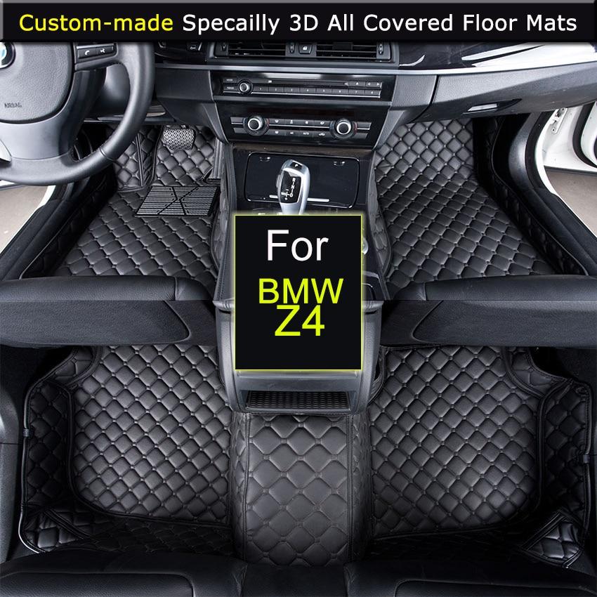 Spécialement pour BMW Z4 voiture tapis de sol voiture style tapis de pied tapis 3D tout-couvert imperméable noir marron Beige