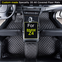 Specially for BMW Z4 Car Floor mats Car styling Foot Rugs Carpets 3D All covered Waterproof Black Brown Beige