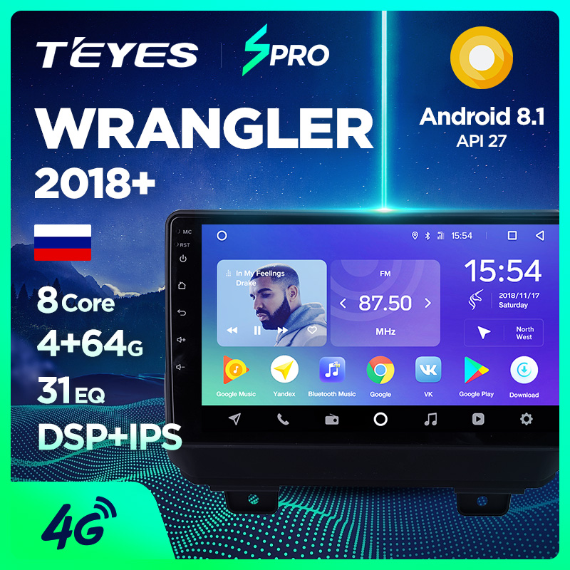 TEYES SPRO android car dvd gps multimedia player For Jeep Wrangler  2018+ car dvd navigation radio video audio player