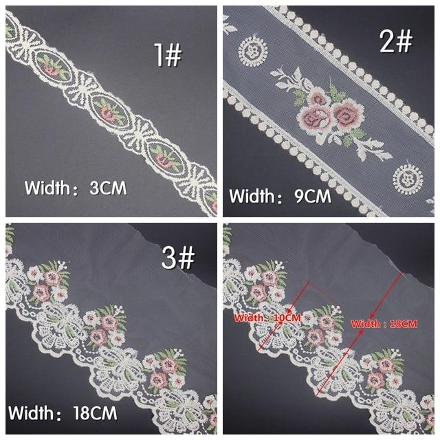 2 yardas/lote de adornos de cinta de encaje para costura DIY cinta para decoración de cortina Trenza para molduras nigerianas de encaje de costura
