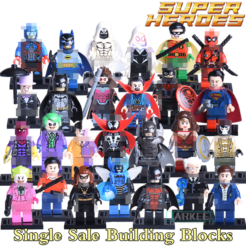 Building Blocks Joker Doctor Strange Wonderwoman Baron Zemo Super Heroes X-man Avengers Batman Diy Figures Kids DIY Toys Bricks building blocks super heroes back to the future doc brown and marty mcfly with skateboard wolverine toys for children gift kf197