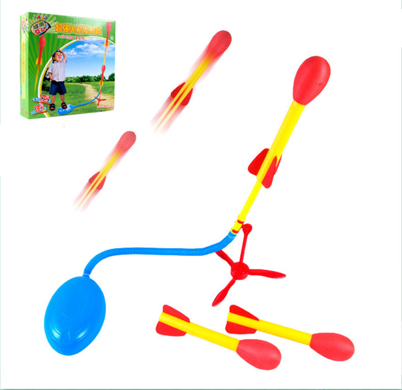 Newest Ultra Stomp Rocket outdoor fun game toy flying security interactive toys kids baby best Space