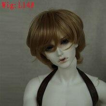 Парик BJD кукла 1/3High-temperature короткие кудрявые волосы коричневого и черного цветов парик для куклы заряда L14#22-24 см дополнительные аксессуары для куклы