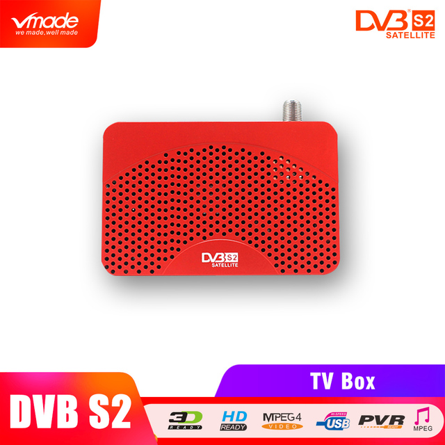 Vmade newest DVB S2 mini high Digital Satellite Receiver HD TV Tuner DVB S2 Receptor Biss key Cccam  Biss Vu Youtube USB Capture