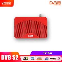Vmade nieuwste DVB S2 mini hoge Digitale Satellietontvanger HD TV Tuner DVB S2 Receptor Biss key Cccam Biss Vu youtube USB Capture